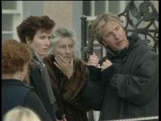 """Emma Thompson and Phyllida Law with Alan Rickman (the director) on the set of """"Winter Guest"""""""