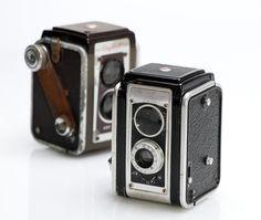 Kodak Duaflex II and IV. Circa 50's.  My very first camera (Brownie Box).