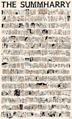 The whole Harry Potter story in one huge comic by Lucy Knisley.