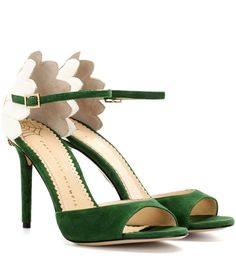 CHARLOTTE OLYMPIA Marge 100 embellished suede sandals. #charlotteolympia #shoes #sandals