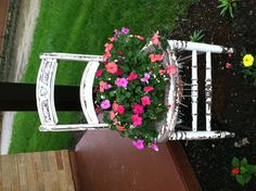 My antique flower chair!