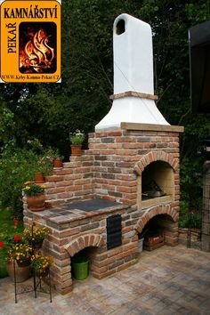 Barbecue Area, Outdoor Oven, Backyard Kitchen, Pergola, Gazebo, Outdoor Living, Outdoor Decor, Back Gardens, Garden Projects
