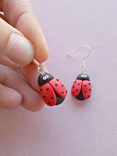 Ladybug Earrings Ladybug Dangle Earrings Ladybug Gift