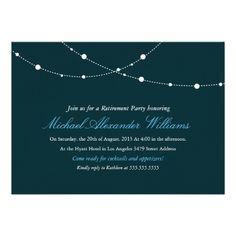"Glimmering Lights Retirement Party Invitation 5"" X 7"" Invitation Card"