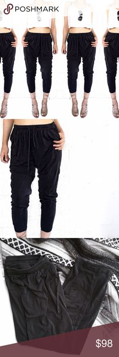 Barneys co-op silk joggers Super chic silk joggers by barneys New York co-op. Color is a dark charcoal. No trades. Open to offers Barneys New York CO-OP Pants Track Pants & Joggers