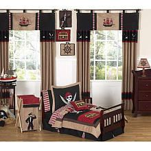 """Sweet JoJo Treasure Cove Pirate Collection Toddler Bedding - 5-Piece Set - French Toast - Toys """"R"""" Us"""