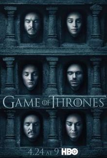 Game of Thrones Season 6 poster: This poster is used to give a sneak peak or promote their upcoming season.
