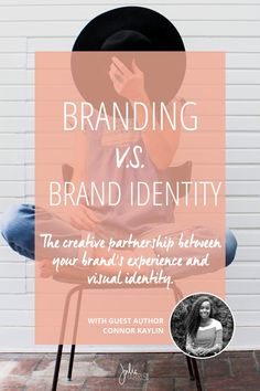 Branding v.s. Brand Identity. Branding your business and designing your brand's visual identity are two separate steps in your overall brand experience. Understanding how they differentiate while also how dependent they are upon one another in order to convey consistency and clarity behind a brand is crucial. | Julie Harris Design