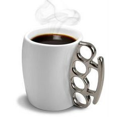 Knuckle Duster Mug Fisticup Finger Handle Brass Ring Fist Coffee Milk Cups Gift in Home & Garden | eBay