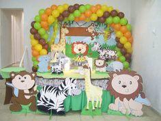 Resultado de imagen para centro de mesa infantil tema safari