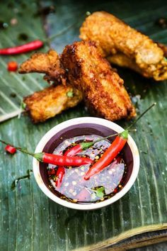 Thai Crispy Fried Pork Belly with Chili Dipping Sauce