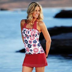 Nautical Classic! Ruched Square Halter by Divinita Sole #Swimwear from #DiviineModestee