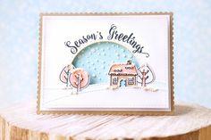 Mama Elephant Christmas Card by Elena Roussakis.  blogged here: justmeprints.blogspot.ca/2015/10/mama-elephant-october-st...