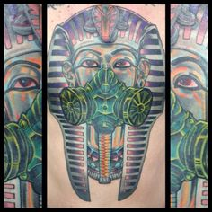 Fredericksburg, Virginia  Tattoo Artist  Chance Kenyon,  Instagram CHANCE456 / TATTOOREVIVAL www.tattyshack.com Va tattoos pharaoh tattoo