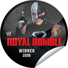 A WWE Main Event check-in TONIGHT gets you the WWE Royal Rumble Winners Series: Rey Mysterio sticker!