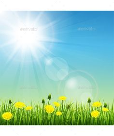 Buy Summer Meadow by johnny-ka on GraphicRiver. Vector illustration of beautiful summer meadow Background Ppt, Landscape Background, Landscape Illustration, Stop Motion, Nature Wallpaper, Vector Pattern, Vector Graphics, Animation, Vectors