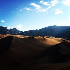 Hiking Great Sand Dunes, Colorado.