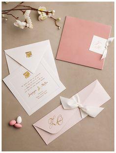 Προσκλήσεις γάμου σε ροζ χρώμα
