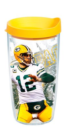 Sport your favorite player and team with a Tervis® Green Bay Packers Aaron Rodgers 16-oz. Insulated Cooler