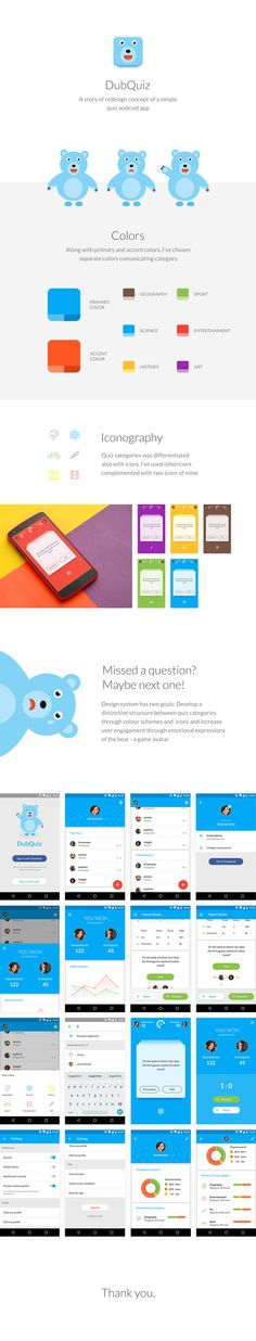 Quiz app for android on Behance