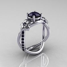 Nature Classic 10K White Gold 10 CT Dark Blue by artmasters, $849.00