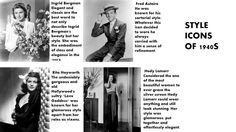 style icons of 1940s
