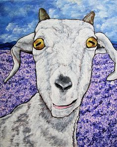 Colorful Goat https://www.etsy.com/listing/186507940/custom-commission-original-art-by-mike  On the far side of the farm was a field where a few of the animals were allowed to wander.  She went to see the flowers and got more than she bargained for.  As soon as she came over the small hills the animals began to gather around her.  It didn't take long for most of them to wander away when they realized she didn't have any food for them.  That is, all except for one white goat.  For the rest of…