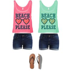 Beach please/shorts outfit by amberpend on Polyvore featuring polyvore, fashion, style, VILA and Abercrombie & Fitch