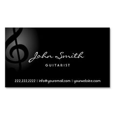 305 best musician business cards images on pinterest in 2018 carte elegant music clef guitarist dark business card colourmoves