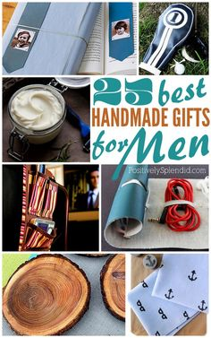 25 handmade gifts for men | Father's Day gift ideas from @Positively Splendid