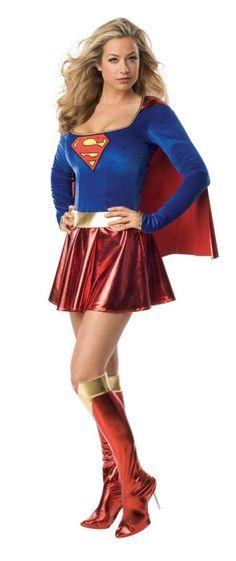 Sexy Superwoman Costume, RU888239, Halloween Costumes Sexy Superwoman Costume - Fancy Dress by TheCostumeLand.com - Buy Costumes Online
