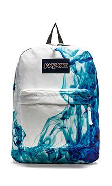 Jansport Superbreak Backpack in Blue Drip Dye | REVOLVE Erhmagerd I love this!!!