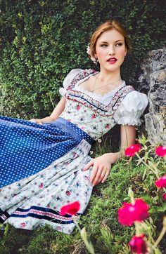 "Lena Hoschek Tradition S/S15 ""Dirndl Flora"" www.lenahoschek.com"