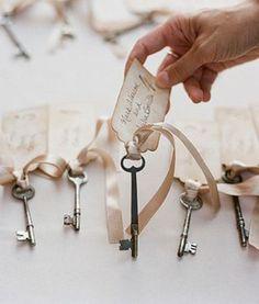 Skeleton Key Place Cards