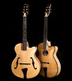 Fylde Guitars: Roger Bucknall has just finished two beautiful archtop guitars. Have a look at his website http://www.fyldeguitars.com and subscribe to his newsletter!