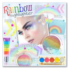 """Makeup Craze: Rainbow Highlighter!"" by alexandrazeres ❤ liked on Polyvore featuring beauty, Anya Hindmarch, Winky Lux, rainbow, cosmetics, makeupset and highlighter"