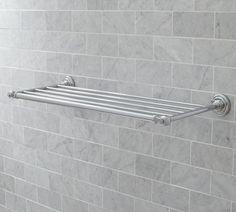 Train Rack Geesa 5555 24 Inch Chrome Towel Rack or Towel Shelf