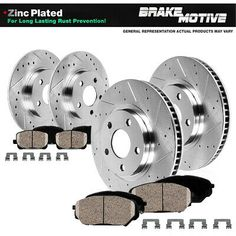 Fit Volkswagen Corrado Passat Front Rear  Blank Brake Rotors+Ceramic Brake Pads