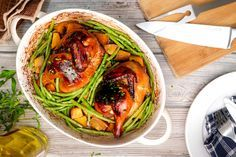 Soy-Balsamic Roast Chicken and Vegetables - MyNutriCounter Delicious Dinner Recipes, Lunch Recipes, Delicious Food, Healthy Gluten Free Recipes, Healthy Food, Eating Healthy, Pantothenic Acid, Chicken And Vegetables, Veggies