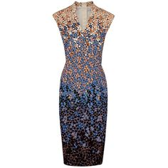 L.K. Bennett Vanessa Floral Dress, Blue ($280) ❤ liked on Polyvore featuring women's fashion, dresses, blue floral dress, special occasion dresses, bodycon dress, evening dresses и floral bodycon dress