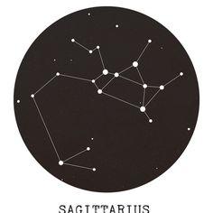 Sagittarius Star Constellation Framed Art Print by Clarissa Di Nicola   Society6