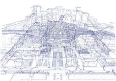 X-Ray Vision: Tomoyuki Tanaka Opens Up Tokyo's Train Stations With Intricate Ballpoint Drawings - Architizer