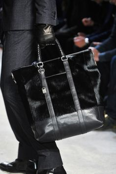 609b370318f Black Leather and Calf Hide Carry All