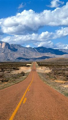 Lonesome Highway, Guadalupe Mountains, Texas~~Have Always Wanted To See These Mountains. Looks Like A Great Road Trip For The Future!