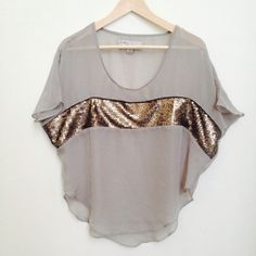 Host Pick Very cute sheer top New...has gold detailing along the front chest.  Bought at sample sale in LA, a bit too small for me :(. Price is firm. havana Tops