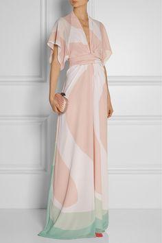 Issa | Pollyanna printed chiffon maxi dress | NET-A-PORTER.COM