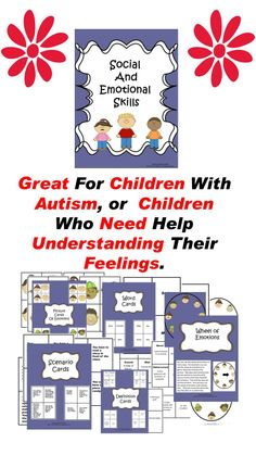 Social and Emotional Skills:  Great for children with autism, emotional disorders, special needs, and any child who needs practice understanding emotions. #Tpt  #autism #special education