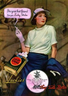 cigarette Lucky Strike advertising