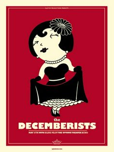 love the colours and characterisation in this awesome concert poster for @TheDecemberists by @VahallaStudios