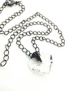 Crystal Heart Necklace #heart #swarovski #goth by UrbanClink, $26.00